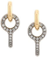 Charlotte Chesnais 18kt yellow and white gold Twin Pave diamond earrings