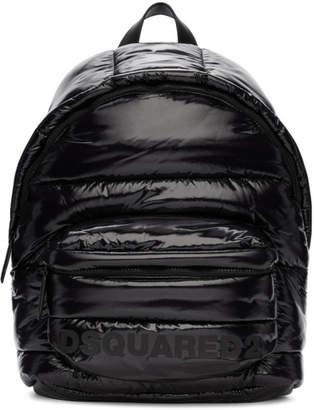 DSQUARED2 Black Padded Mountain Ski Backpack