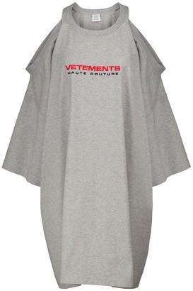 Vetements Logo cotton-jersey T-shirt minidress