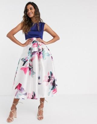 Closet London dress with printed skirt