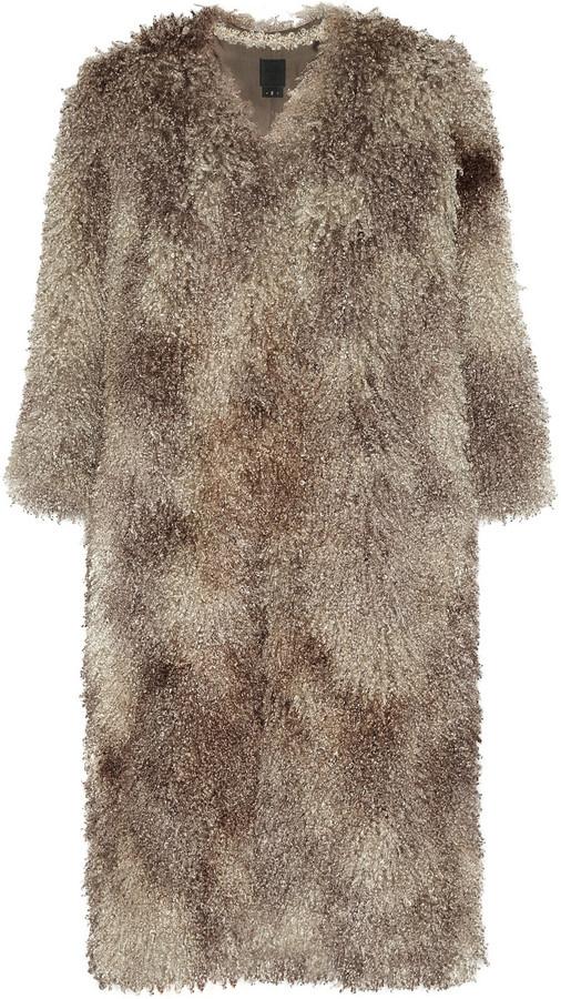 Anna Sui Faux shearling coat