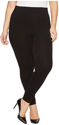 Hue Plus Size Ultra Leggings with Wide Waistband (Black) Women's Casual Pants
