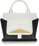 Vionnet Mosaic 30 Color Block Leather Medium Satchel Bag w/Shoulder Strap