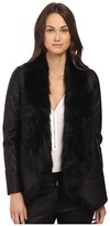 The Kooples Jacket in Fake Leather and Faux Fur