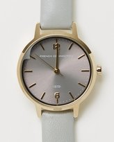 French Connection 30mm Pearlised Leather Strap Watch