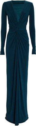 Katie May In A Mood Draped Jersey Gown