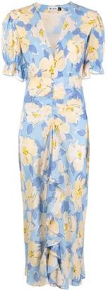 Rixo Ariel azelea bloom-print dress
