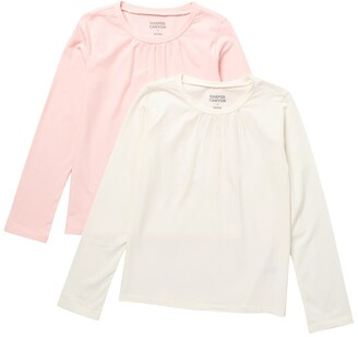 Harper Canyon Crew Neck Long Sleeve T-Shirt - Pack of 2