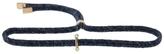 Yannis Sergakis Adornments Double Diamond Adornment On Blue Cord Bracelet