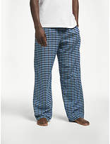 John Lewis Upton Gingham Pyjama Bottoms, Blue/White