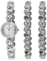 Peugeot Women's 670 Crystal Watch & Tennis Bracelet Gift Set