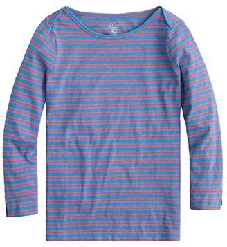 J.Crew Boatneck Painter T-Shirt in Stripe (Blue Papaya Saybrook Stripe) Women's Clothing