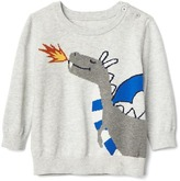 Fairy tale intarsia sweater