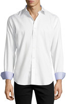 Bugatchi Cotton Sport Shirt, White