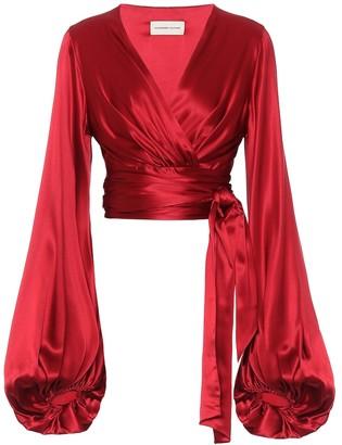 Alexandre Vauthier Stretch silk-satin top