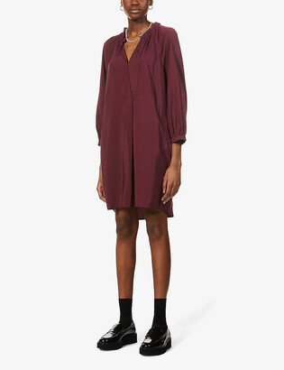 Whistles Enora woven midi dress