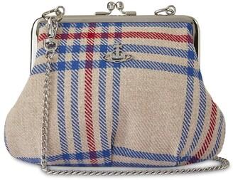Vivienne Westwood Elena Frame Recycled Tartan Purse Bag