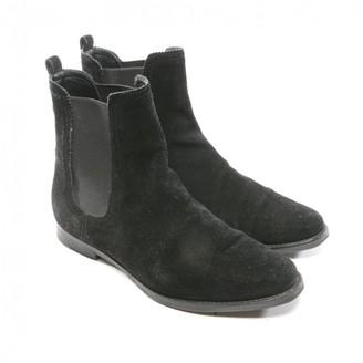 Unützer Black Suede Ankle boots