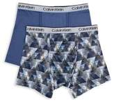 Calvin Klein Little Boy's & Boy's Two-Pack Performance Boxer Briefs