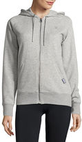 New Balance Heathered Zip Up Hoodie