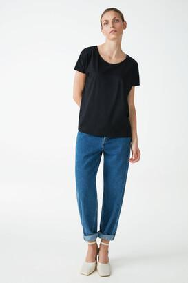 Cos Lyocell-Organic Cotton Mix Square Cut T-Shirt