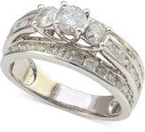 Macy's Diamond Three-Stone Engagement Ring (2 ct. t.w.) in 14k Gold