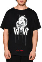 Off-White Othello's Wolf Short-Sleeve Graphic T-Shirt, Black