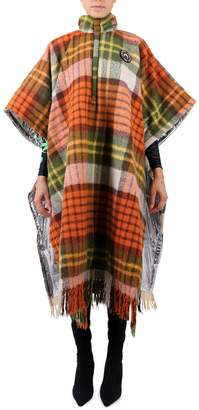 Marine Serre Vintage Plaid Coat