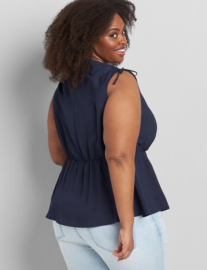 Thumbnail for your product : Lane Bryant Drawstring-Shoulder Peplum Top