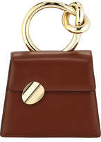 Benedetta Bruzziches Brigitta Small Flap Top Handle Bag, Brown