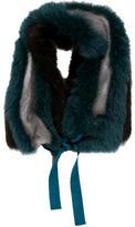 Roberto Cavalli Tricolor Fur Stole
