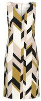 HUGO BOSS Dephani Herringbone Print Sheath Dress 4 Patterned