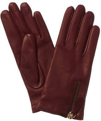Portolano Zipper Leather Gloves