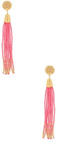 Gorjana Pink Tassel Earrings
