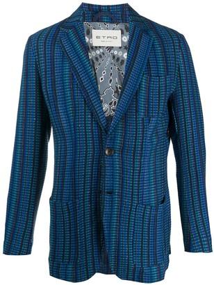 Etro Long Sleeve Striped Pattern Blazer