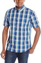 Dockers Short Sleeve Plaid Button Down Collar Shirt