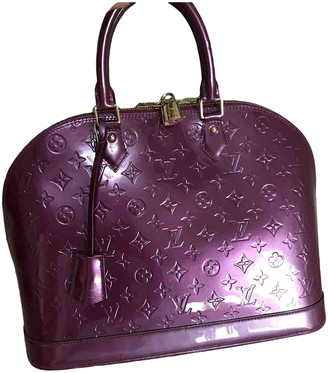Louis Vuitton Alma Purple Patent leather Handbags