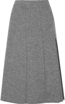 Proenza Schouler Pleated Boiled Wool Wrap Midi Skirt