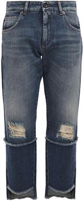 Dolce & Gabbana Cropped Distressed Boyfriend Jeans