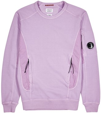 C.P. Company Lilac panelled cotton sweatshirt