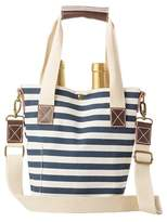 Cathy's Concepts Monogram Stripe Wine Tote - Blue