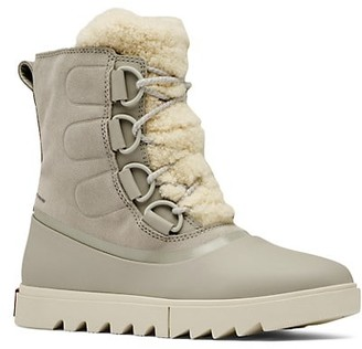 Sorel Joan of Arctic Next Lite Shearling-Trimmed Suede Boots