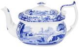 Spode Blue Italian Handled Teapot