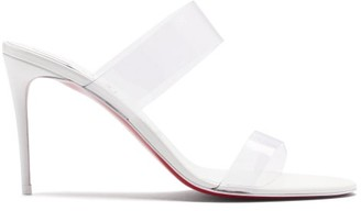 Christian Louboutin Just Nothing 85 Pvc-strap Leather Mules - White