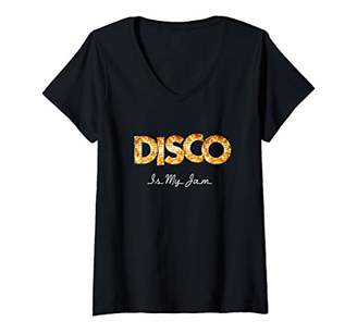 Womens 70s 80s Disco My Jam Dancing Party Vintage Old School Outfit V-Neck T-Shirt
