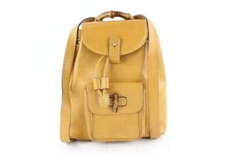 Gucci Yellow Leather Backpacks
