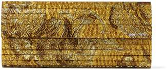 Jimmy Choo SWEETIE Gold Brocade Acrylic Clutch Bag