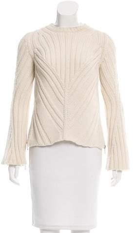 Alexander McQueen Wool Bell Sleeve Sweater
