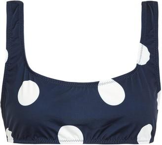 Solid & Striped Polka-dot Bikini Top