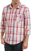 Michael Stars Checked Linen-Blend Woven Shirt